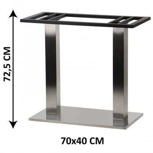 Podstawa stolika podwójna SH-2003-4/S, 70x40 cm (stelaż stolika), stal nierdzewna szczotkowana, SH-2003-4/S