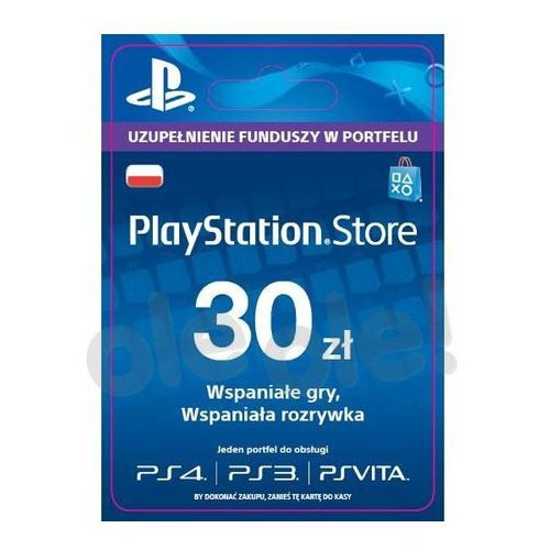 OKAZJA - playstation network 30 zł [kod aktywacyjny] marki Sony
