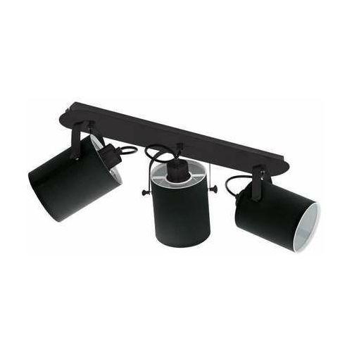 Eglo villabate 33647 plafon lampa sufitowa spot 3x10w e27 czarny/biały (9002759336479)