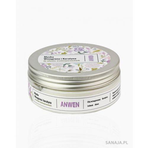 Anwen Winogrona i keratyna maska do włosów średnioporowatych - (5900286012627)