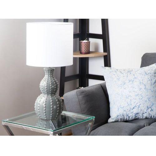 Lampa stołowa szara/biała 59 cm TRISANNA (4260624111216)