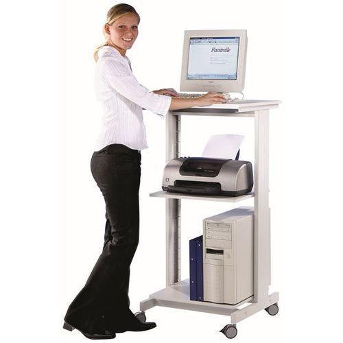 Twinco Stół pod komputer, z dwoma półkami, wys. x szer. x gł. 1180x600x500 mm, jasnosza