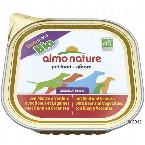 daily menu bio dog kurczak z ziemniakami - szalka 300g marki Almo nature
