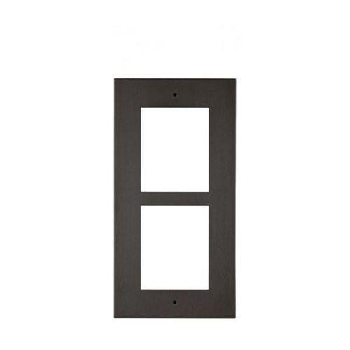 2n ip verso płyta czołowa do montażu natynkowego dla 2 modułów czarna (8595159509495)