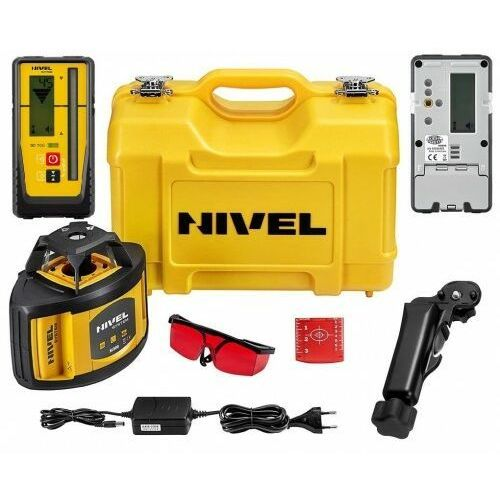 Laser obrotowy niwelator NIVEL NL500 DIGITAL ZASIEG 500M Z AKCESORIAMI + Czujnik RD700 Digital, NL500DIGITAL