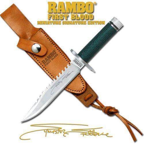 Usa Miniaturowy nóż z filmu rambo first blood sygnowany (mc-rbm1ss)
