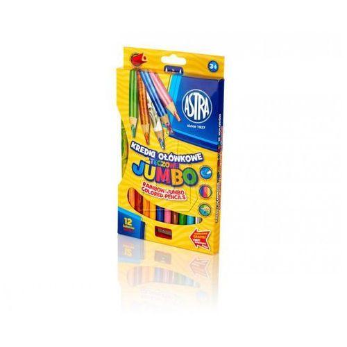 Astra papiernicze Kredki ołówkowe jumbo tęczowe 12 kolorów (5901137112312)