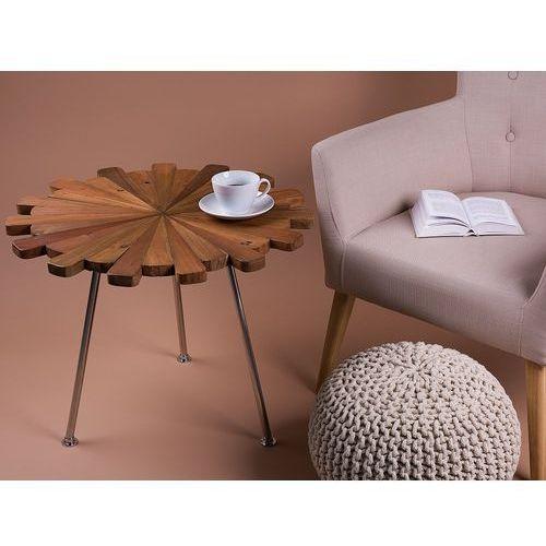 Beliani Stolik kawowy - drewniany - do pokoju - ława kawowa - stół - mayo