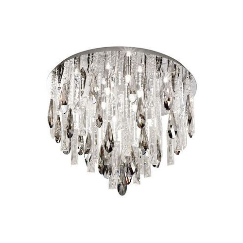 Plafon Eglo Calaonda 93433 lampa kryształowa sufitowa 8x33W G9 fi580 chrom/kryształ dymiony, 93433