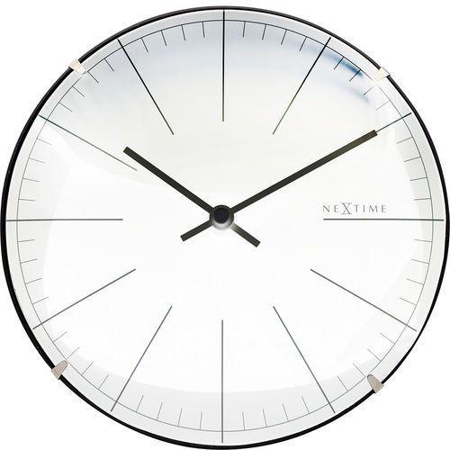 Zegar ścienny / stojący big stripe mini dome 20 cm, biały (3506 wi) marki Nextime