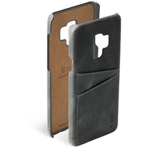 Krusell Sunne 2 Card Cover - Skórzane etui Samsung Galaxy S9 z dwoma zewnętrznymi kieszeniami na karty (Black) (7394090612629)