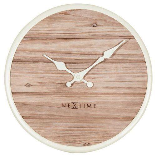 Zegar ścienny Plank 50 cm biały, kolor biały