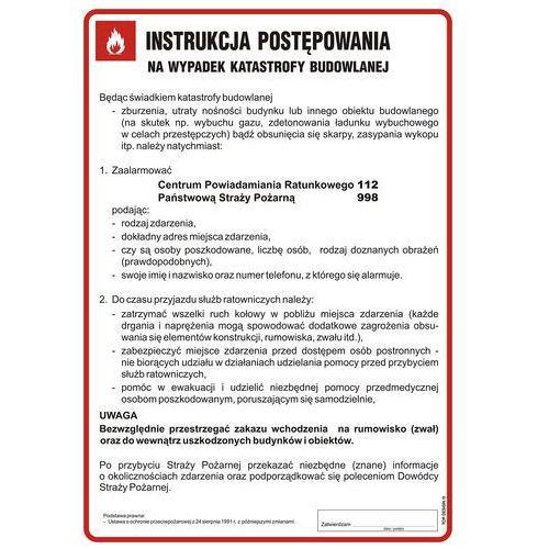 Instrukcja postępowania na wypadek katastrofy budowlanej