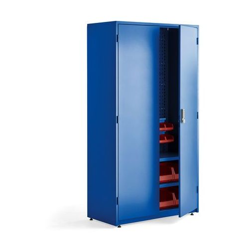 Szafa warsztatowa supply, elektroniczny zamek szyfrowy, 1900x1020x500 mm, niebieski marki Aj produkty
