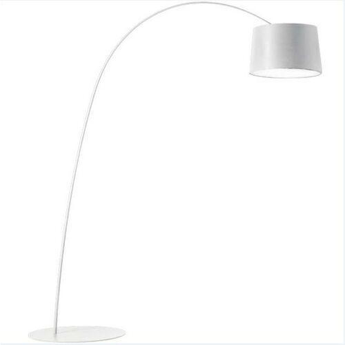 Lampa podłogowa CLEO biała - włókno węglowe, metal