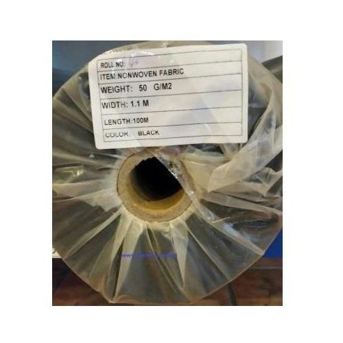 Agrowółknina ściółkujaca PP 50 g/m2 czarna 1,1 x 100 mb. BEZ UV.Rolka o wadze 8,6 kg., PP 50/110/100/CZ rolka BEZ UV