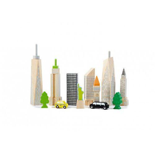 Klocki świecące w ciemności - miasteczko City Skyline