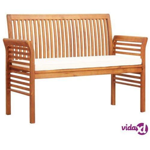 2-osobowa ławka ogrodowa z poduszką, 120 cm, drewno akacjowe marki Vidaxl
