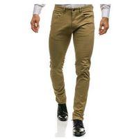 J7 Spodnie chinosy męskie beżowe denley ho8
