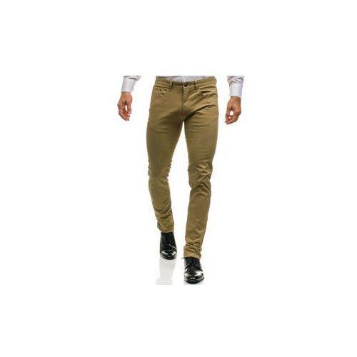 Spodnie chinosy męskie beżowe Denley HO8