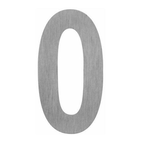 Cyfra 0 samoprzylepna 100 mm inox (5905367000937)