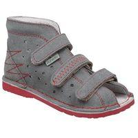 Kapcie profilaktyczne buty t105 t115 szary+czerwony - szary ||czerwony marki Danielki