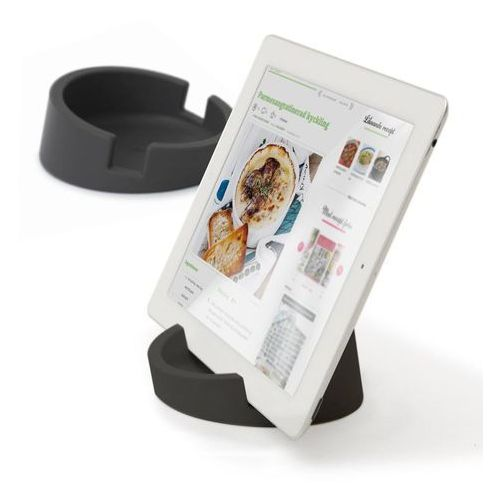 Bosign bosign kitchen tablet stand. cookbook stand for ipad/tablet pc -graphite gray 11,4 cm, 4,5 cm high. silicone - 262960 darmowy odbiór w 19 miastach!