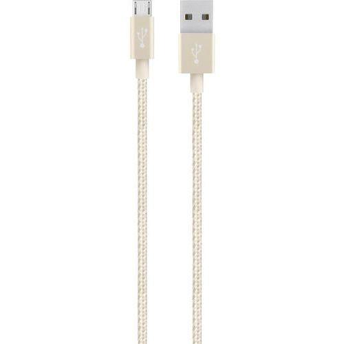 Kabel USB 2.0 Belkin F2CUo21bt04-GLD, [1x złącze męskie USB 2.0 A - 1x złącze męskie micro-USB 2.0 B], 1.2 m, złoty