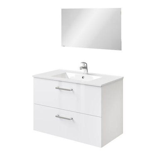 Zestaw szafka pod umywalkę Pyxis 80 cm z lustrem biała, kolor biały
