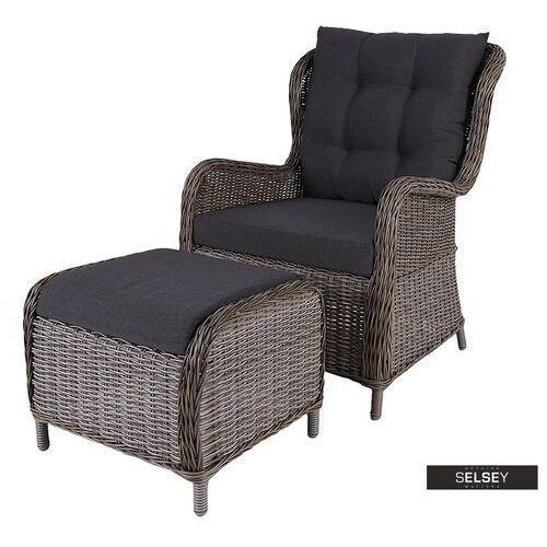 Selsey fotel ogrodowy toleon z podnóżkiem (5903025364124)