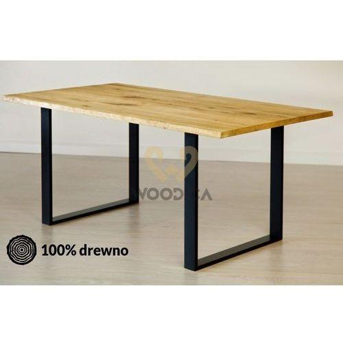 Stół dębowy na metalowych nogach 13 140x75x90 marki Woodica
