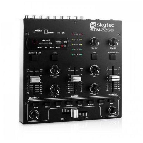 STM-2250 4-kanałowy mikser USB SD MP3 FX