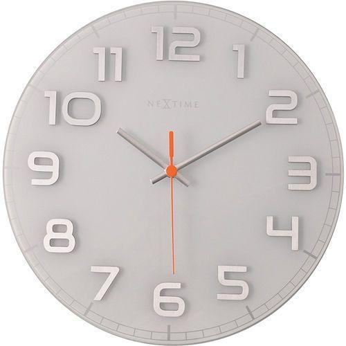 Okrągły zegar ścienny Classy Nextime 30 cm, biały (8817 WI) (8717713010692)