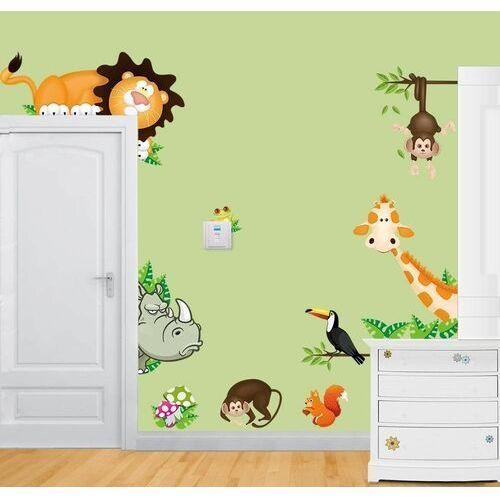 Naklejka dekoracyjna Kolorowe zwierzątka sawanna, 595518