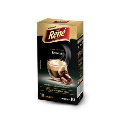 Kawa palona mielona ristretto espresso 50 g (10 kapsułek) marki Rene