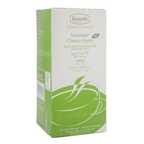 Zielona herbata Ronnefeldt Teavelope Classic Green BIO 25x1,5g (4006465160408)