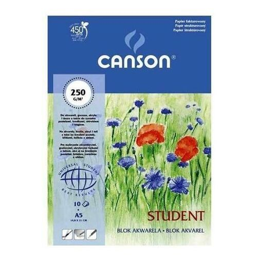 Canson Blok akwarela a5 papier fakturowany 10 kartek student
