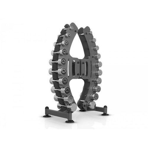 Zestaw hantli chromowanych ze stojakiem 1-10kg MP-S206 Marbo Professional