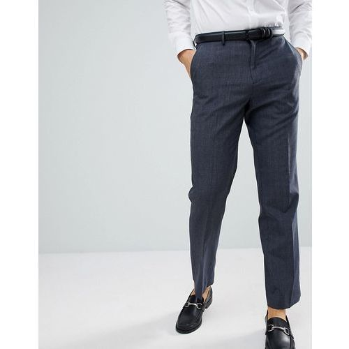 regular fit check smart trousers in navy - navy marki Burton menswear
