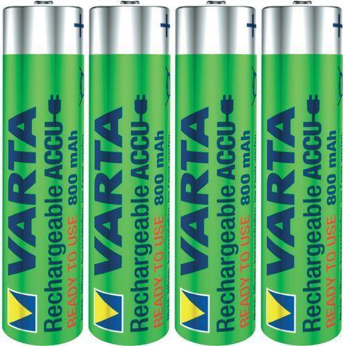 4 x akumulatorki Varta Ready2use R03/AAA Ni-MH 1000mAh z kategorii Akumulatorki