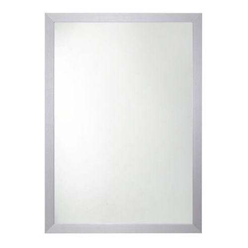 Lustro prostokątne 70 x 50 cm w ramie szare, kolor szary