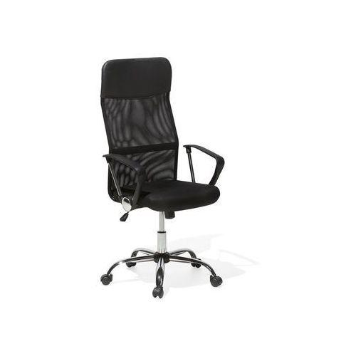 Beliani Krzesło biurowe czarne regulowana wysokość design