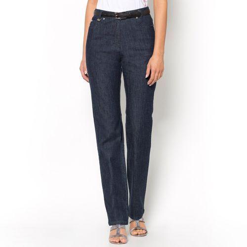 Jeansy z serży ze stretchem, wewn. dł. nogawki. 78 cm, ANNE WEYBURN