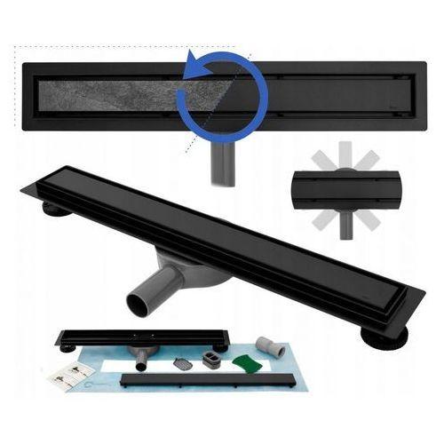 Czarny odpływ liniowy 90 cm Rea Pure Neo Pro