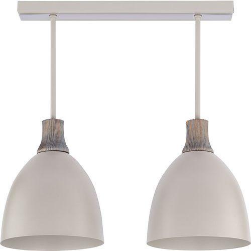 Plafon Sigma Leo 2 szary lampa sufitowa z drewnem (5902335261772)