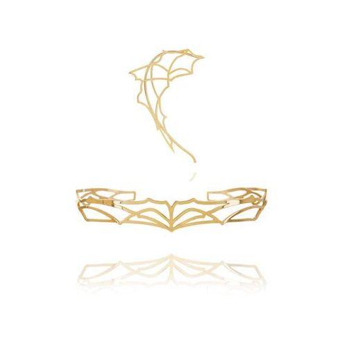 Komplet nausznica i bransoletka złoto marki Klara kostrzewska