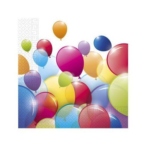 Serwetki urodzinowe Baloniki - 33 cm - 20 szt. (5201184806999)