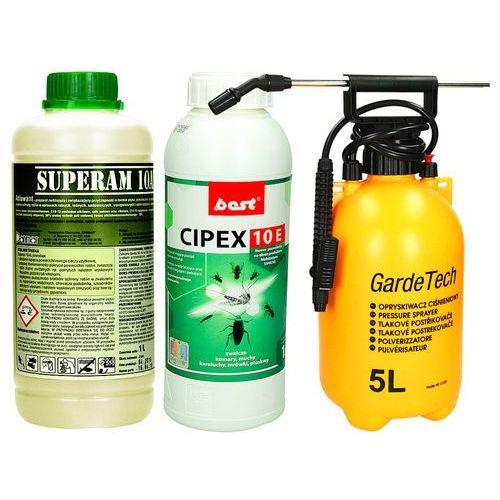 Oprysk przeciw komarom Cipex 10e, Utrwalacz 1l i Opryskiwacz 5l.