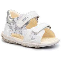 Sandały GEOX - B Sand Nicely A B0238A 01002 C0007 White/Silver, kolor biały