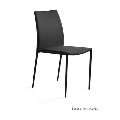 Krzesło Design Tkanina PVC czarne